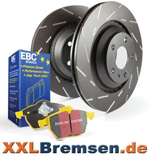 Black Dash Sportbremsscheiben und EBC Yellowstuff Bremsbelag