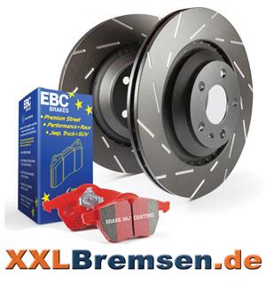 EBC Black Dash Bremsscheiben mit EBC Redstuff Belaegen