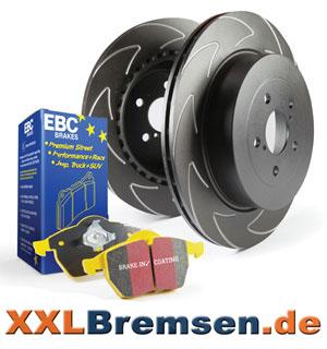 High Carbon Sportbremsscheiben und EBC Yellowstuff Bremsbelaege