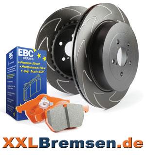 Sportbremsen EBC High Carbon und Orangestuff Bremsen