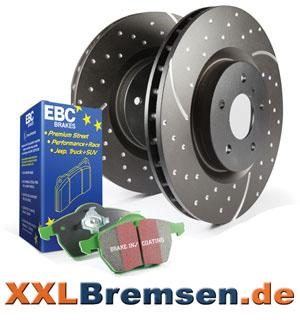 Turbo Groove Bremsscheiben mit EBC Greenstuff Bremsen